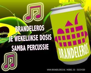 Sambapercussie band Brandeleros uit Helmond op zoek naar nieuwe leden.